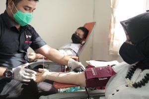 Ikuti Arahan Gubenur, ASN di Aceh Lakukan Donor Darah.