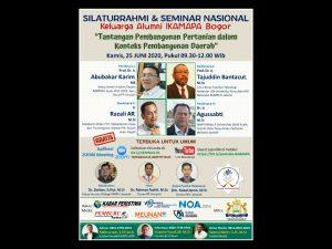 Alumni IKAMAPA – Bogor Gelar Seminar Nasional Online Gratis, Berikut Cara Daftar