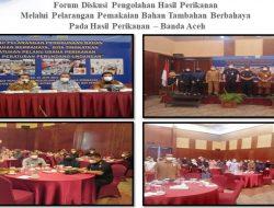 Kadis DKP Aceh Buka Forum Diskusi Pelarangan Penggunaan Bahan Berbahaya Pada Hasil Perikanan