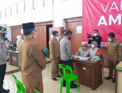 Semangati Vaksinator, Wakapolda Aceh Tinjau Pelaksanaan Vaksinasi Covid-19
