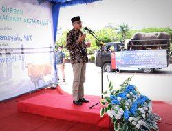 Terima Sapi Kurban Presiden, Masyarakat Aceh Besar Berterima Kasih Pada Gubernur