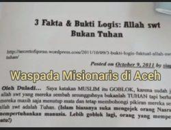 Breakingnews – Warga Aceh Barat Dihebohkan Dengan Aksi Misionaris